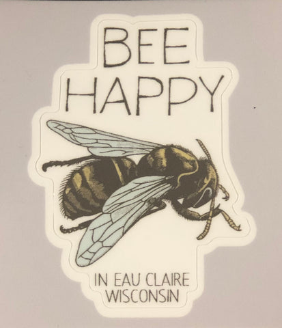 Die-Cut Stickers - Bee Happy