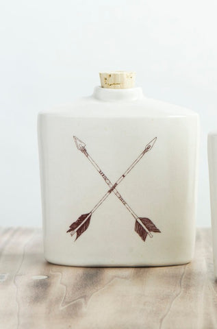 Ceramic Flask - X Arrows