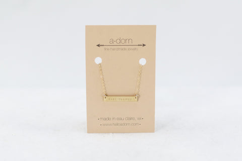 EXC Bar Necklace - Gold