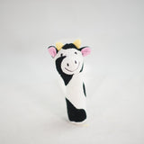Knit Squeaky Cow Toy