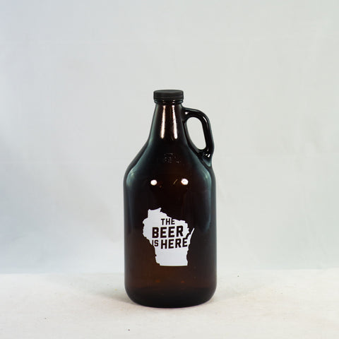 Beer Growler - The Beer is Here (64 oz.)