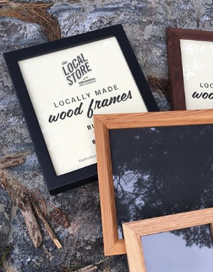 Locally Made Wood Frame - Black (8x10)