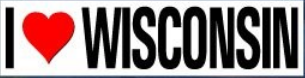Bumper Sticker - I Heart Wisconsin
