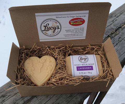 Lucy's Goat Soap - Boxed Set w/ Heart
