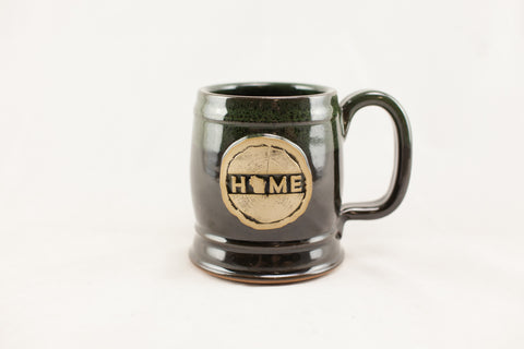 Stoneware - WI Home Barrel Mug - Royal Green