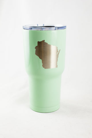 Wisconsin Tumbler - Mint w/ Star