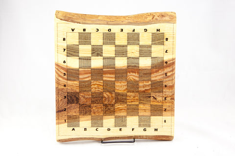 Live Edge Chess Board