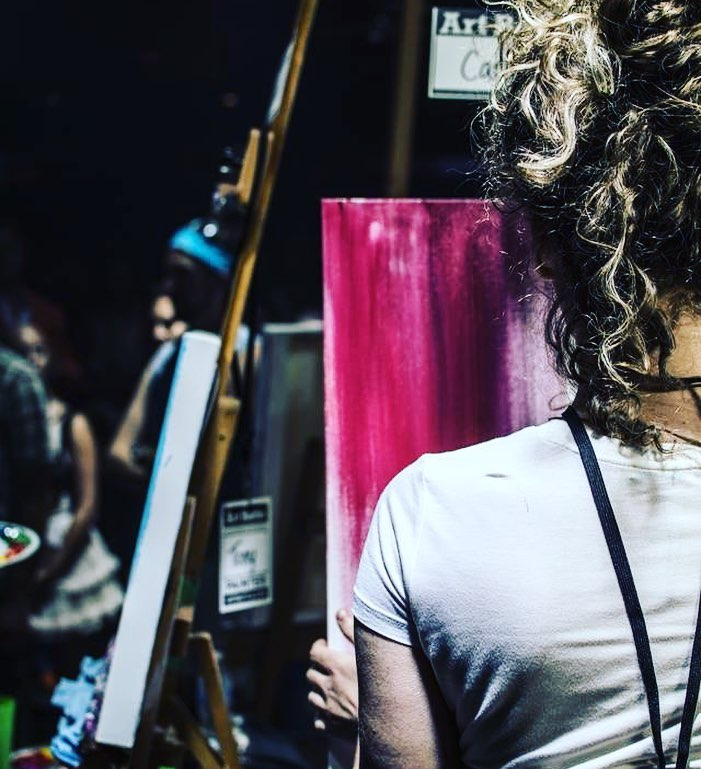 Carling painting at Vancouver Art Battle