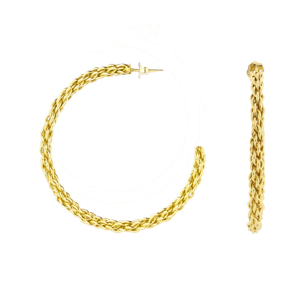 Gold Spellbound Hoops Earrings