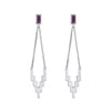 Silver After Glow Drop Earrings with Gemstone