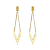 Gold After Glow Drop Earrings with Gemstone