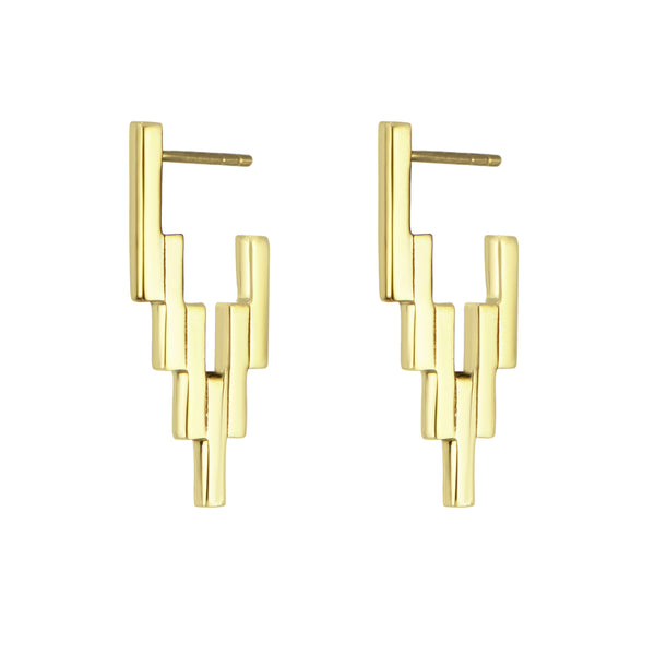 Gold After Glow Huggie Earrings