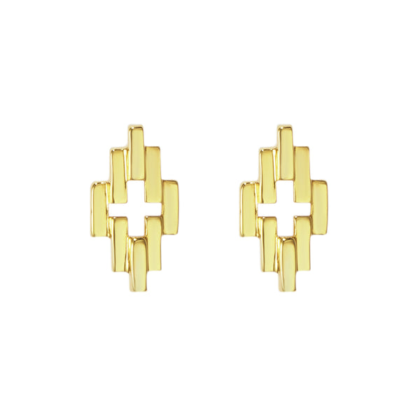 Gold Corona Studs Earrings
