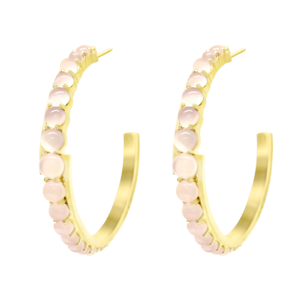 Gold Andromeda Hoop Earrings with gemstones