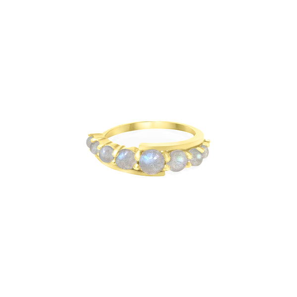 Gold Andromeda Ring with gemstones