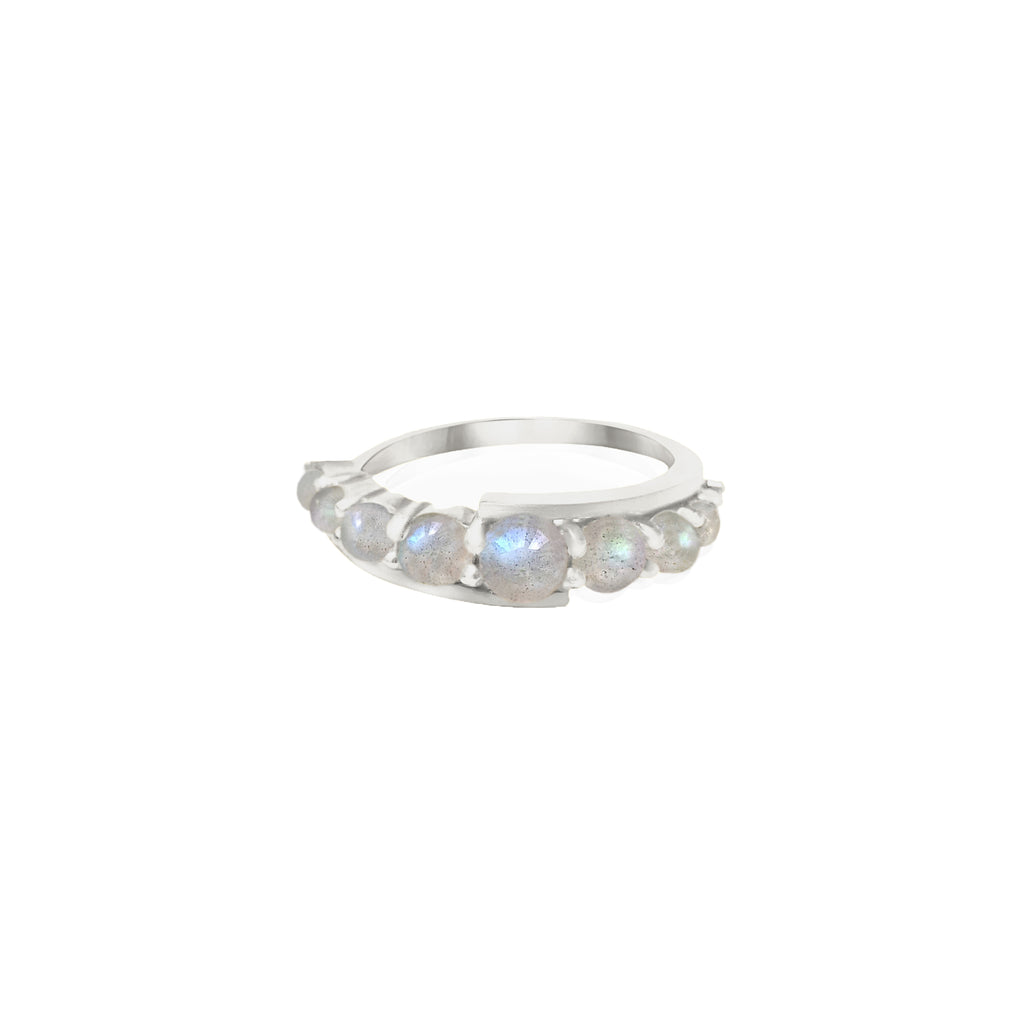 Silver Andromeda Ring with gemstones