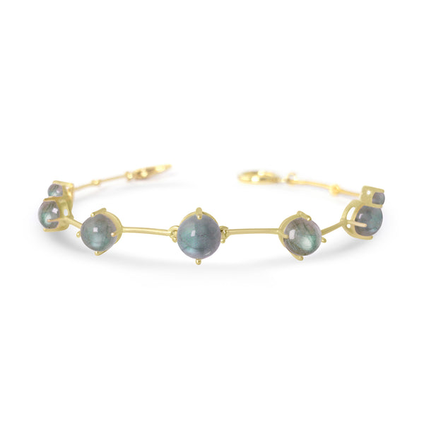 Gold Astraea Bracelet With Labradorite