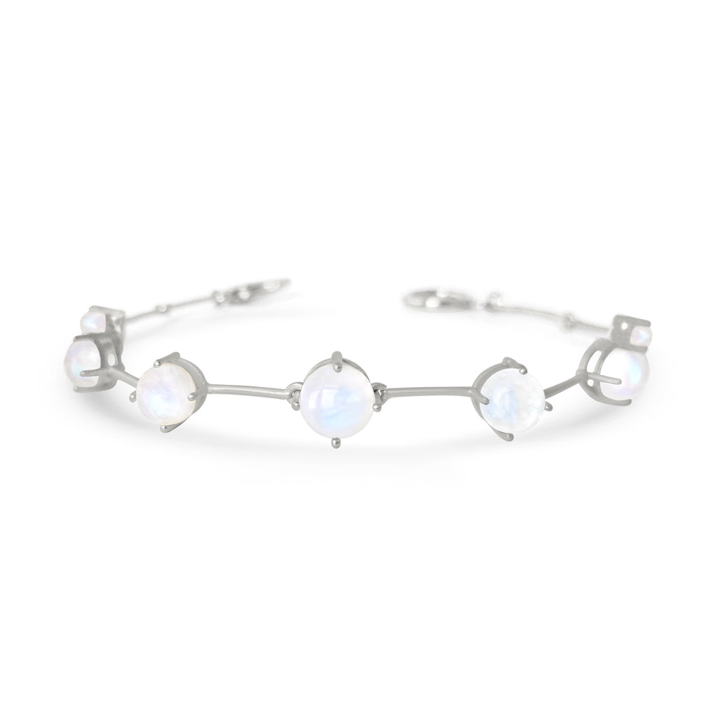 Silver Astraea Bracelet With Moonstone