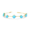 Gold Astraea Bracelet with Turquoise