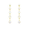 Gold Astraea Drop Earring with Rainbow Moonstone