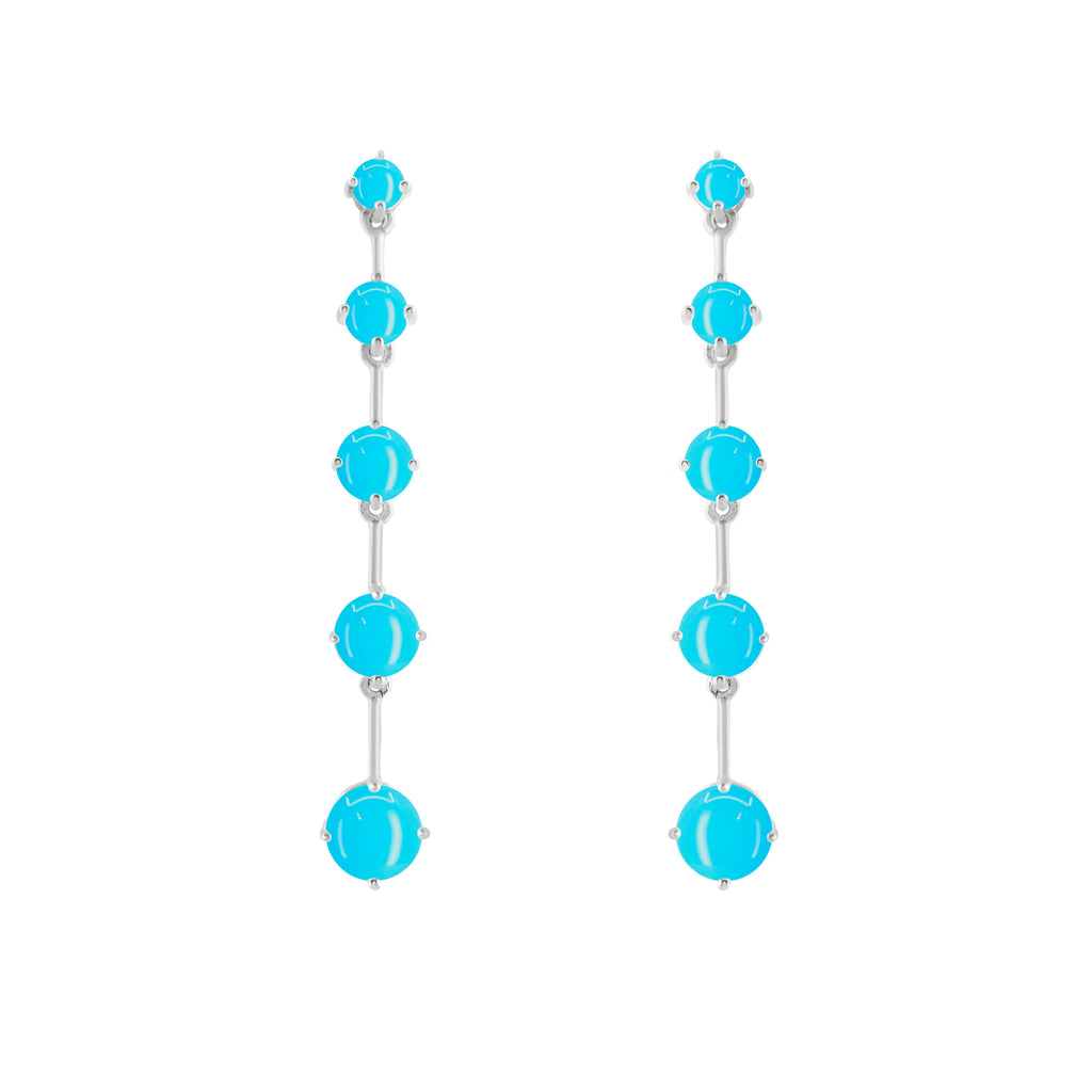 Silver Astraea Drop Earring with Turquoise