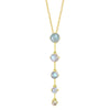 Gold Astraea Drop Pendant with Moonstone