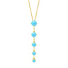 Gold Astraea Drop Pendant with Turquoise
