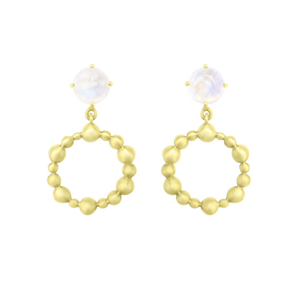Gold Cassiopeia Earring with gemstones