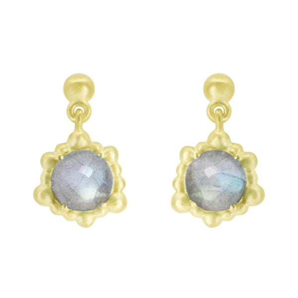 Gold Cassiopeia Mini Drop Earring with gemstones