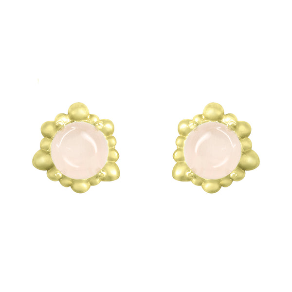 Gold Cassiopeia Stud earrings with gemstones