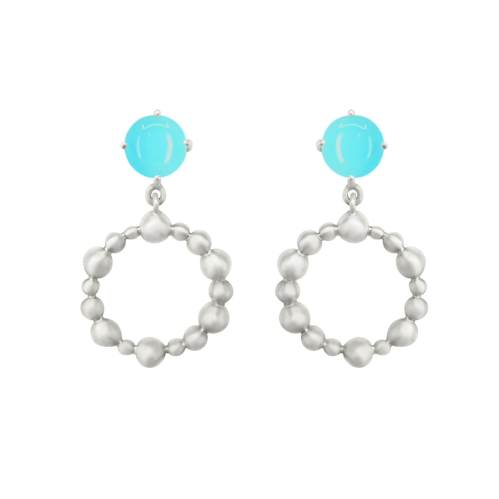 Silver Cassiopeia Earring with gemstones