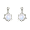 Silver Cassiopeia Mini Drop Earring with gemstones