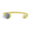 Gold Coeus Cuff Bracelet with gemstone