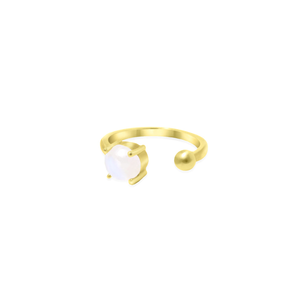 Gold Coeus Ring with gemstones