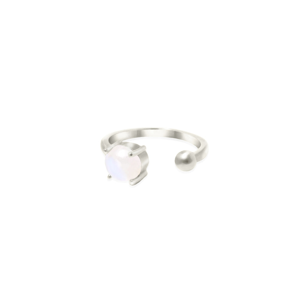 Silver Coeus Ring with gemstones