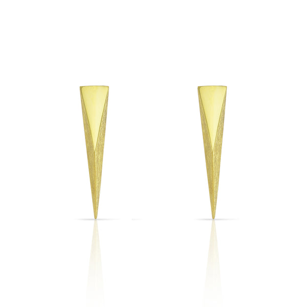 Gold Large Coquette Studs Earrings