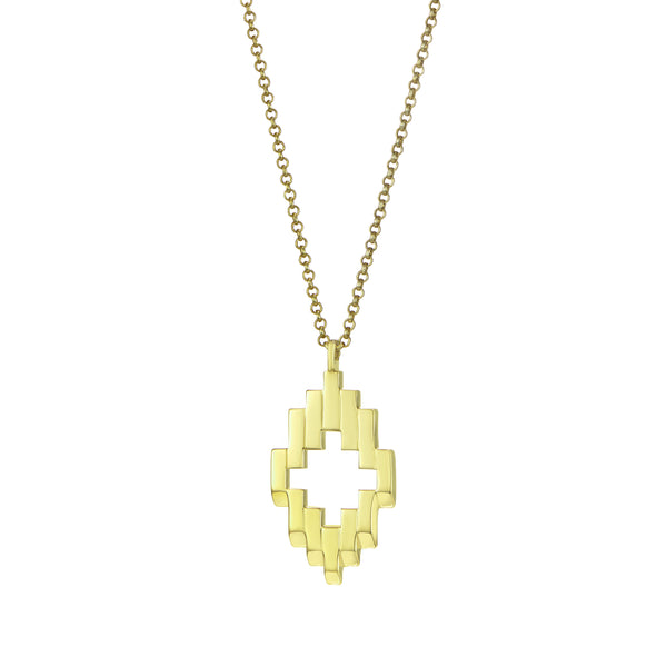 Gold Aura Pendant Necklace