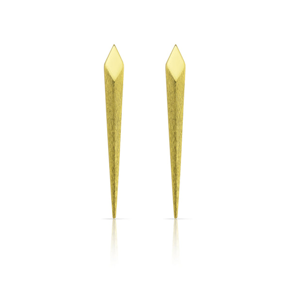 Gold Viper Bite Studs Earrings