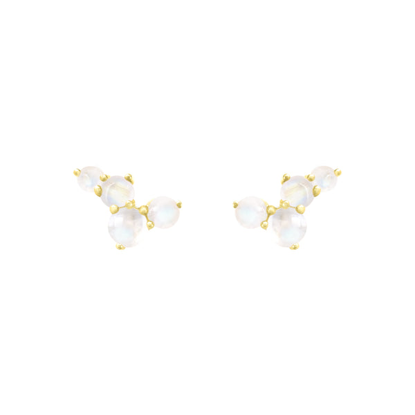 Via Lactea Mini Stud Moonstone Gold