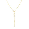 Gold Via Lactea Lariat with multiple gemstones