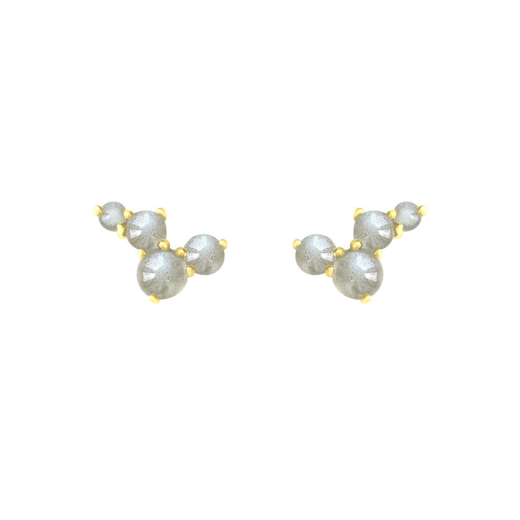 Gold Via Lactea Stud Mini with gemstones