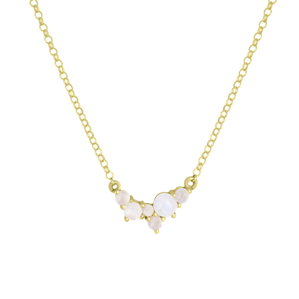 Via Lactea Pendant Moonstone Gold