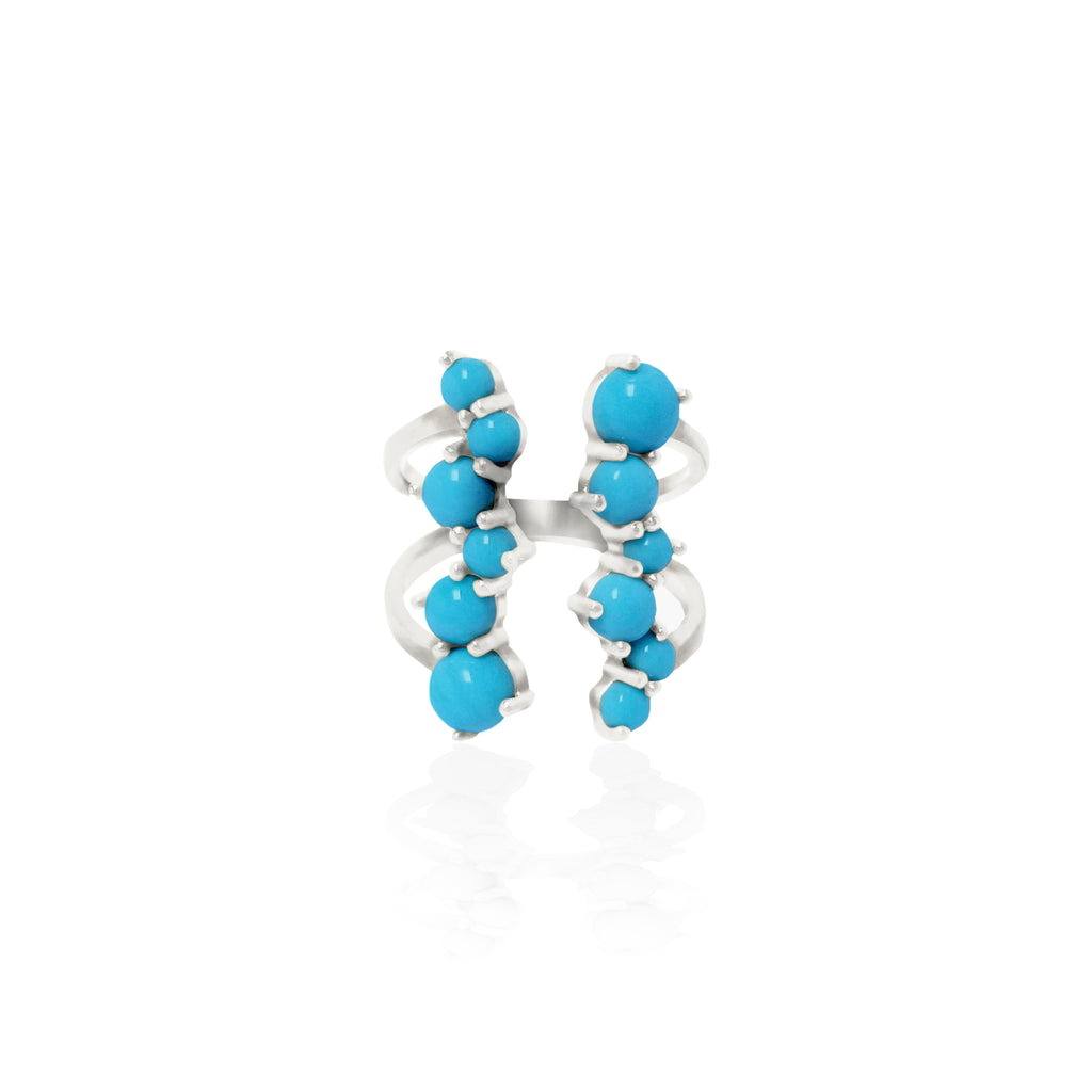 Via Lactea Ring Turquoise Silver