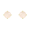 Gold Coeus Stud earrings with gemstones
