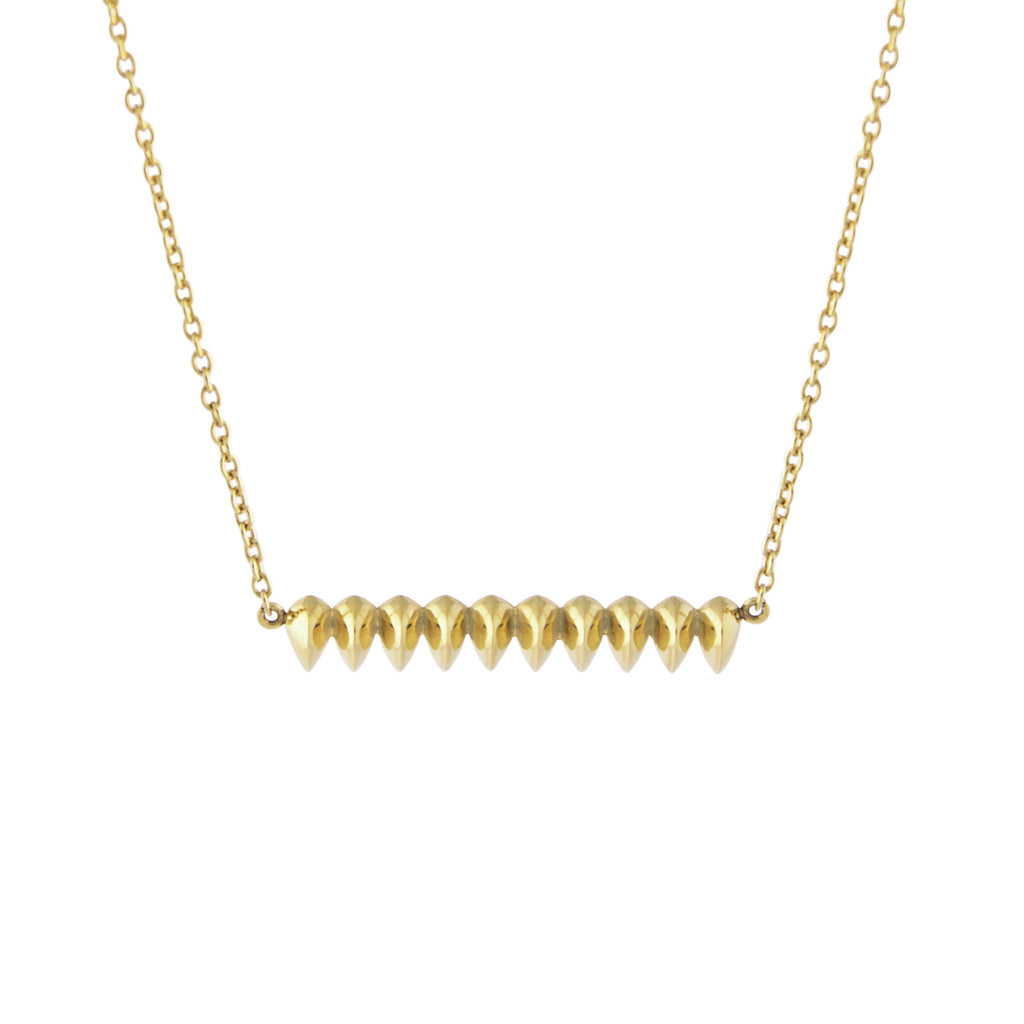 Gold ID Oracle Pendant Necklace