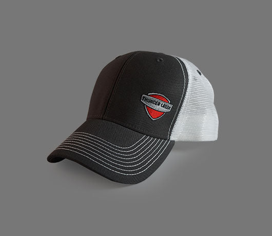 Gray & White Ouray Hat – Shield Logo