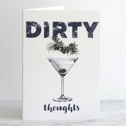'Dirty Thoughts' Greeting Card