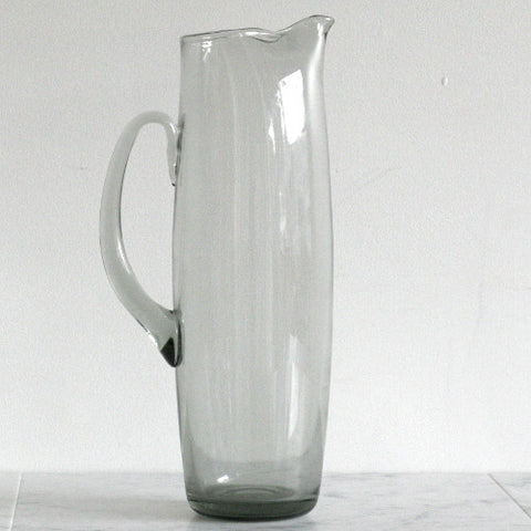 Tall Smoked Pitcher