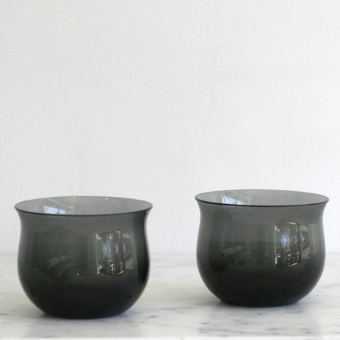 Tinted Crystal Issi Tumblers - Set of 2 Charcoal Gray