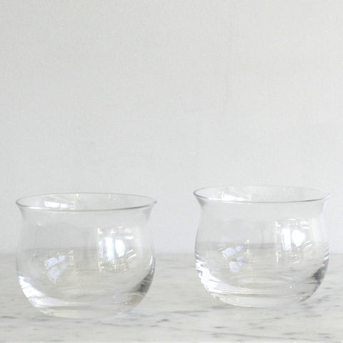 Tinted Crystal Issi Tumblers - Set of 2 Clear